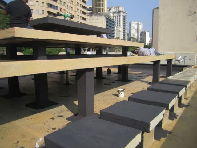 Miaki executa impermeabilização e acabamento de chafariz da Red Bull Station